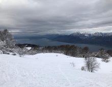 Alpine skiing on the slopes of Monte Baldo